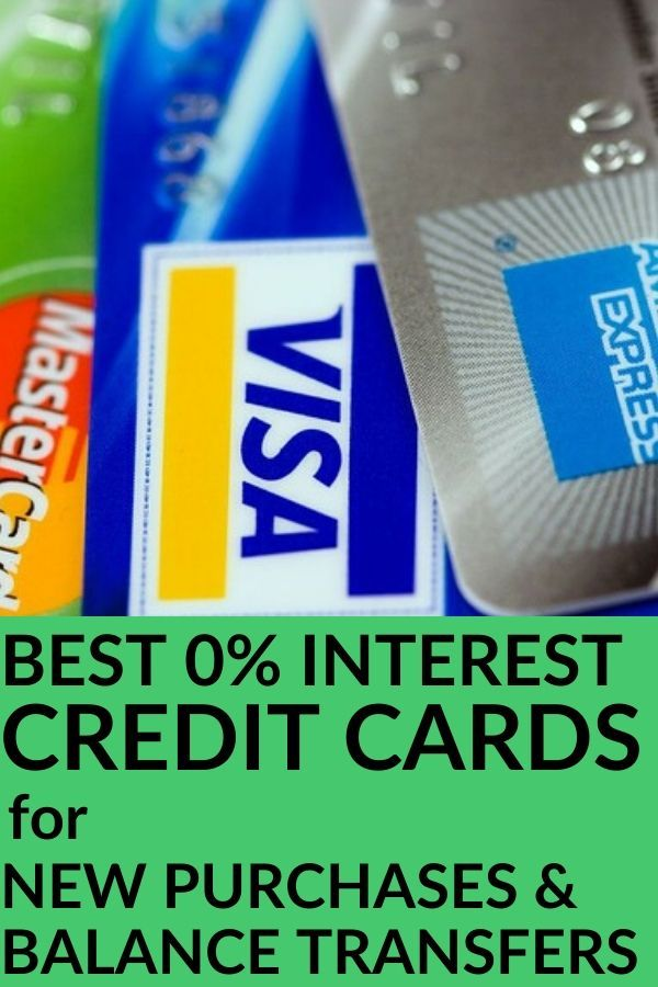 best 0 apr credit cards no interest on new purchases