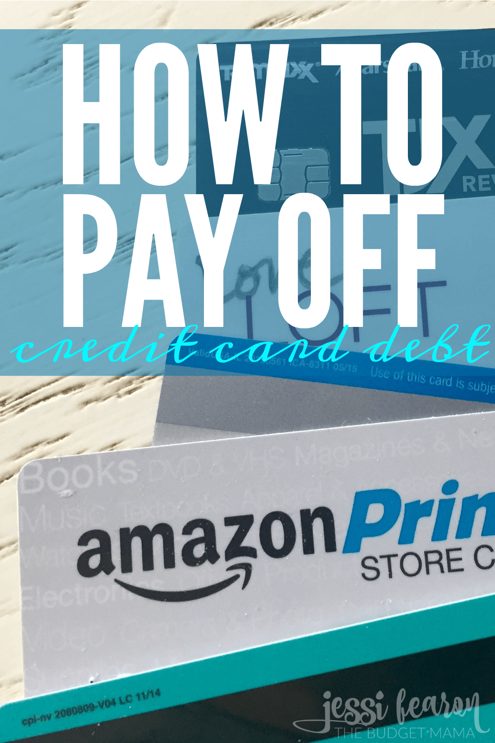 how to pay off credit card debt jessi fearon