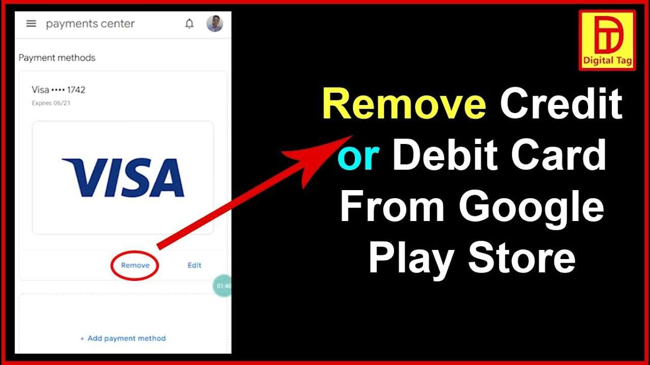 How to remove debit card or Credit card from Google Play ...
